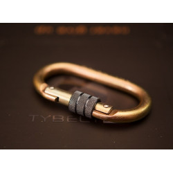 Steel screw carabiner